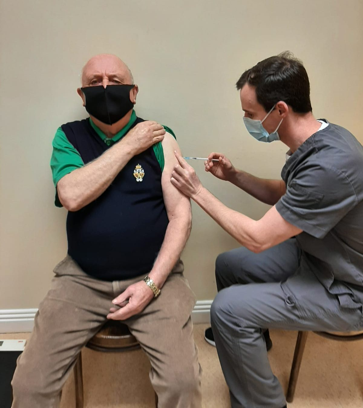 Limerick Doctor giving covid 19 vaccine